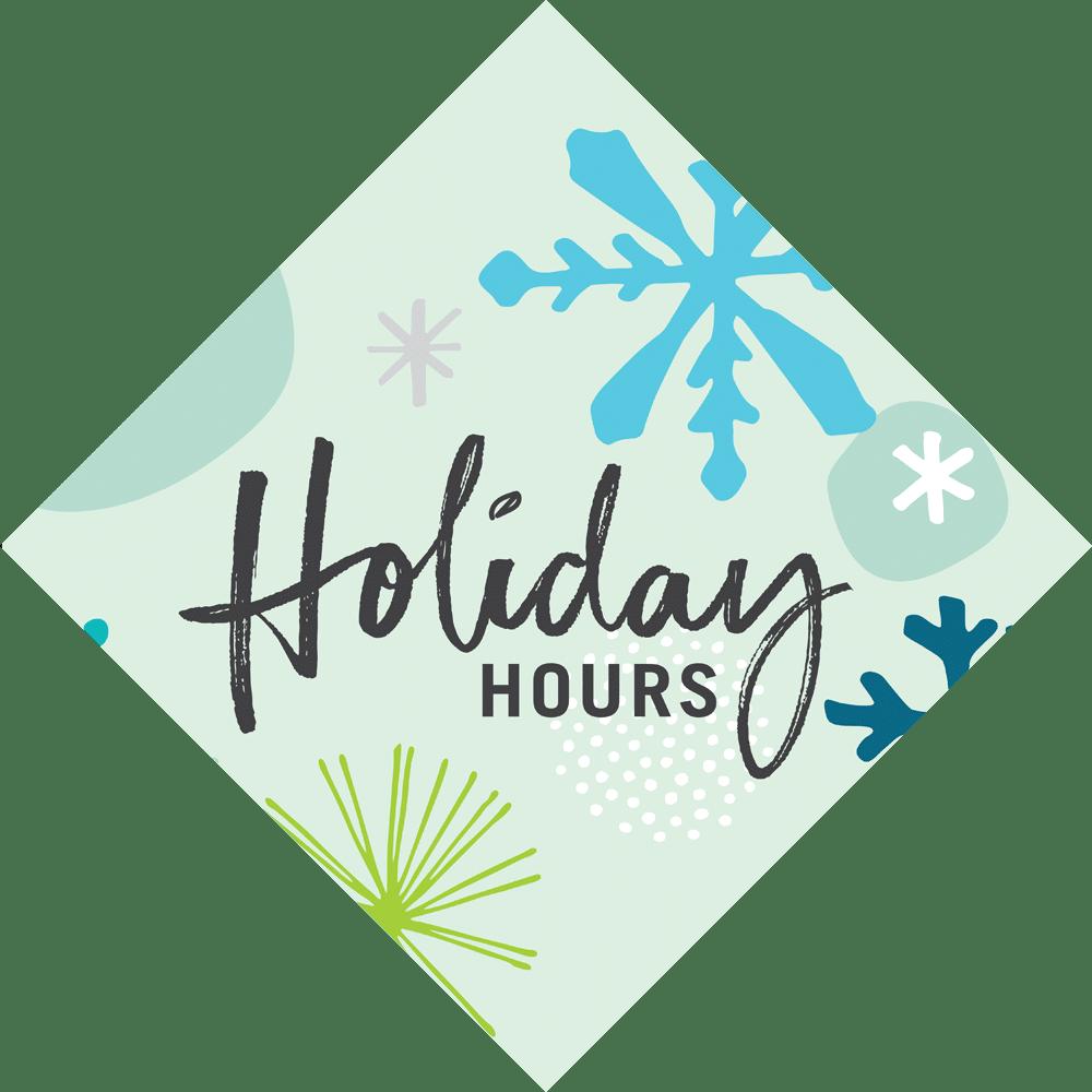 Holiday Hours 2020 Background Image